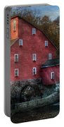 Mill - Clinton Nj - The Old Mill Portable Battery Charger by Mike Savad