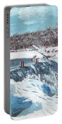 Mill Pond In Winter Portable Battery Charger