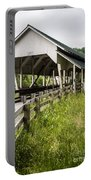 Millers Run Covered Bridge Portable Battery Charger by Edward Fielding