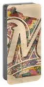 Milwaukee Brewers Poster Art Portable Battery Charger