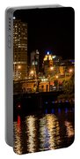 Milwaukee River And Downtown Skyline Portable Battery Charger