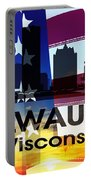 Milwaukee Wi Patriotic Large Cityscape Portable Battery Charger