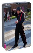 Mime Performer On The Street Portable Battery Charger