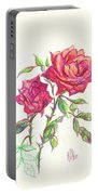 Minature Red Rose Portable Battery Charger