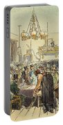 Miners In Saloon, 1852 Portable Battery Charger