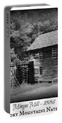 Mingus Mill -- Black And White Poster Portable Battery Charger