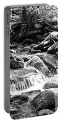 Mini Cascades Smoky Mountains Bw Portable Battery Charger