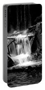 Mini Falls Black And White Portable Battery Charger