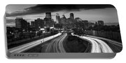 Minneapolis  M N Skyline B W Portable Battery Charger