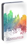 Minneapolis Skyline Colored Portable Battery Charger