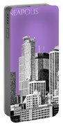 Minneapolis Skyline - Violet  Portable Battery Charger