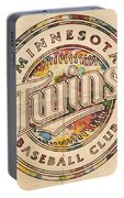 Minnesota Twins Logo Vintage Portable Battery Charger