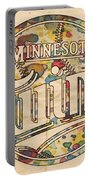 Minnesota Twins Poster Vintage Portable Battery Charger