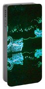 Mirror Lake Reflections In Teal Portable Battery Charger
