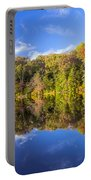 Mirror Reflections Of Fall Portable Battery Charger