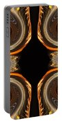 Mirrored Abstract Portable Battery Charger