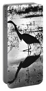 Mirrored Egret  Portable Battery Charger