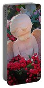 Mischevious Little Cherub Takes A Pee Portable Battery Charger