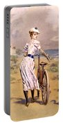 Miss Bicycle 1894 Portable Battery Charger