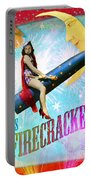 Miss Fire Cracker Portable Battery Charger by Aimee Stewart