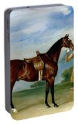 Miss Villebois Bay Hunter Held By A Groom Portable Battery Charger