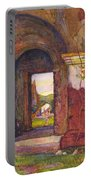 Mission Of San Juan Capistrano By Rowena Meeks Abdy 1887-1945  Portable Battery Charger