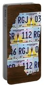 Mississippi State License Plate Map Art Portable Battery Charger