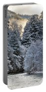 Mist And Snow On Trees Portable Battery Charger
