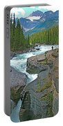 Mistaya Canyon Along Icefield Parkway In Alberta Portable Battery Charger