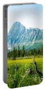 Mistaya River Valley And Mountain Range Portable Battery Charger