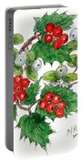 Mistletoe And Holly Wreath Portable Battery Charger
