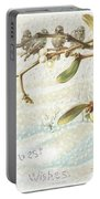 Mistletoe In The Snow Portable Battery Charger by English School