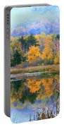 Misty Autumn Pond  Portable Battery Charger
