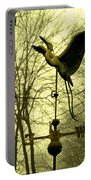 Misty Egret - Gold Portable Battery Charger