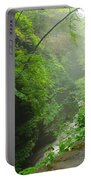 Misty Evening At Watkins Glen Portable Battery Charger