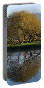 Misty Golden Sunrise Reflection Portable Battery Charger