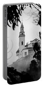 Misty View Of Monserrate Church Portable Battery Charger