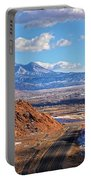 Moab Fault Medium Panorama Portable Battery Charger by Adam Jewell