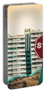 Mobile Photography Toned Stop Sign And Condo Units Portable Battery Charger