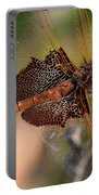 Mocha And Cream Dragonfly Profile Portable Battery Charger
