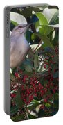 Mocking Bird And Berries Portable Battery Charger