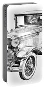Model A Ford Roadster Antique Car Illustration Portable Battery Charger