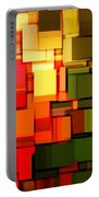 Modern Abstract I Portable Battery Charger by Lourry Legarde