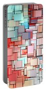 Modern Abstract X Portable Battery Charger