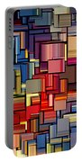 Modern Abstract Xii Portable Battery Charger by Lourry Legarde