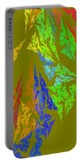 Modern Art Abstract Fractal Green Background Portable Battery Charger