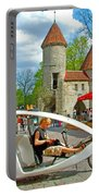 Modern Cycle Taxi In Old Town Tallinn-estonia Portable Battery Charger