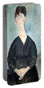 Modigliani's Cafe Singer Portable Battery Charger