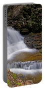 Mohican Falls In Spring Portable Battery Charger