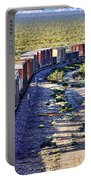 Mojave Desert Train By Diana Sainz Portable Battery Charger